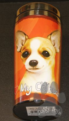 Chihuahua Tan Stainless Steel Travel Tumbler http://doggystylegifts.com/collections/stainless-steel-dog-breed-tumblers/products/chihuahua-tan-stainless-steel-travel-tumbler