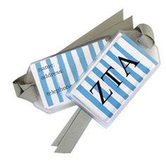 Zeta Tau Alpha Luggage Tag