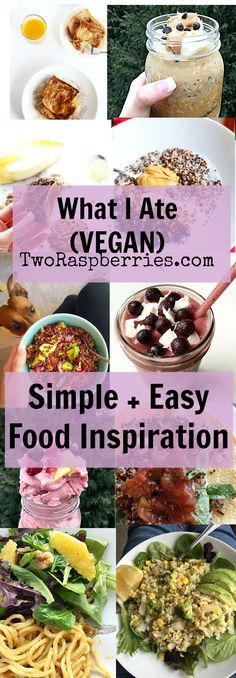 What I ate Nice cream, french toast and more! these are some of the VEGAN things I have been eating lately that I wanted to share with you, some are recipes and some are just easy leftovers made into a meal! / TwoRaspberries.com