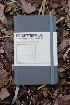 $12 Leuchtturm1917 Grey Linen Notebook - Quality made, write down creative thoughts & ideas on the go