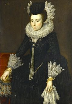 By Anglo-Dutch School, 17th Century - A portrait of a lady