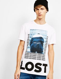 'Street Print' T-shirt. Discover this and many more items in Bershka with new products every week