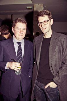 Alex Bilmes (Esquire) & Mark Holgate (Vogue US) at the Derriere party during LONDON show ROOMS Paris Men AW12