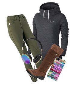 """""""Barn work"""" by perfeqequestrian ❤ liked on Polyvore featuring NIKE, Ariat and Frends"""