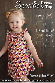 PATTERN Seaside Dress & Top PDF Sewing Pattern Instant #ad