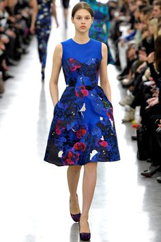 Erdem - love the bright print and style of this dress.