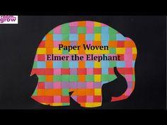 Paper Woven Elmer the Elephant - YouTube