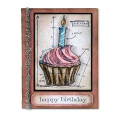 Birthday Blueprint: I love the vintage look of this card