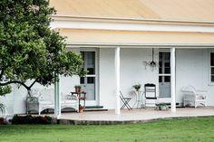 Gorgeous porch. Aussie farmhouse. Gild and Grace