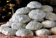 Recipe for homemade cookies – Happy Christmas Greek Sweets, Greek Desserts, Greek Christmas, Christmas Time, Almond Cookies, Homemade Cookies, Christmas Treats, Cookie Recipes, Blueberry