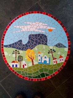 mosaicista Nico Ferrera - São Bento do Sapucaí-SP - Brasil Mosaic Projects, Mosaic Patterns, Mosaic Art, Diy And Crafts, Creations, Kids Rugs, Wall Art, Christmas Tree, Holiday Decor