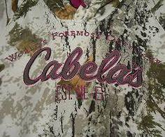 Cabela's white camo woodland snow pattern