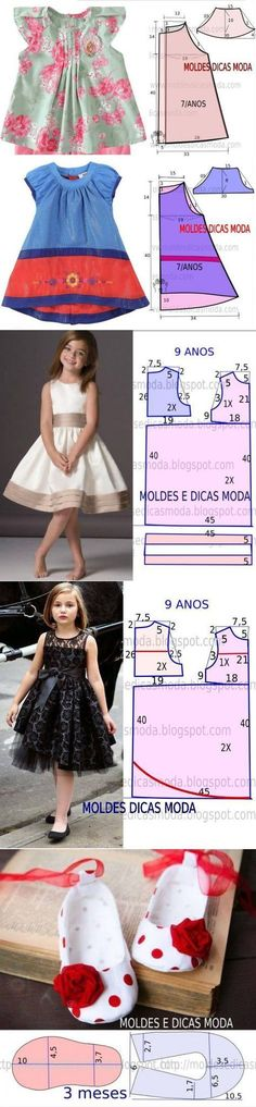 Discover thousands of images about Pattern panels printed directly on the fabric: Riley Blake Doll Clothes Tutorial Girl Dress Patterns, Clothing Patterns, Sewing For Kids, Baby Sewing, Fashion Kids, Fashion Sewing, Sewing Clothes, Diy Clothes, Dress Anak