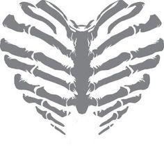 Rib Cage Heart Skull Art Coloring Stickers Skull