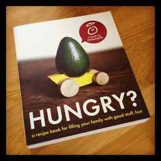 The new paper back version of our Hungry? book has an avocado in a car on the cover.