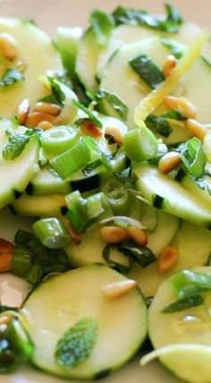 Zesty Cucumber Salad with Pine nuts