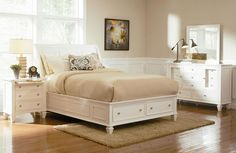 seaside Bedroom Pictures | This 6-piece collection includes the 3-piece bed frame, 1 nightstand ...