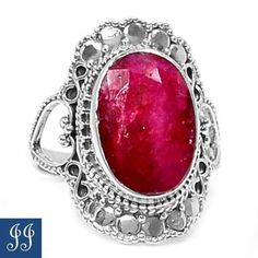 s7-54820-INDIAN-RUBY-925-STERLING-SILVER-RING-SIZE-7-JEWELRY