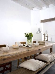 10 Farmhouse Dining Table For Any Homey DesignFarmhouse Breakfast Table or Dining Table Set Adorable Rustic Farmhouse Dining Room Table Ideas Rustic Dining, Wooden Dining Room Table, Dining Room Design, Farmhouse Dining Room, Dining Room Inspiration, Table Inspiration, Rustic Dining Room, Home Decor, House Interior