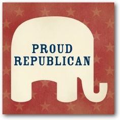 Republican Personalized Gift Tag Stickers