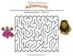 A word search puzzle from the bible story, Thrown To The ...
