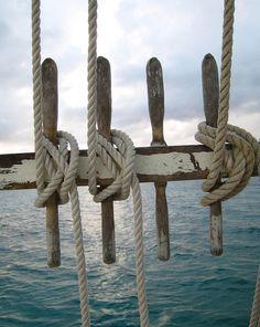 ocean, ropes