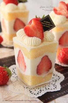 Creamy strawberry shortcake「クリーミー苺ショート 」きゃらめるみるく | お菓子・パンのレシピや作り方【corecle*コレクル】