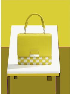 fregole.com #fregole #bag #louis #vuitton #yellow #squares #optical marie claire accessories ilan rubin 8