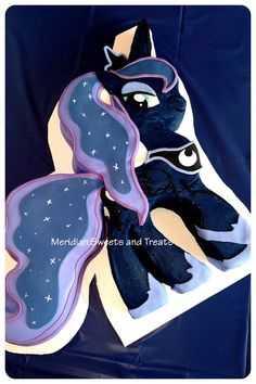 "Princess LUNA cake by ""Meridian Sweets and Treats.""  #mylittlepony #princessluna https://www.facebook.com/MeridianSweetsAndTreats/"