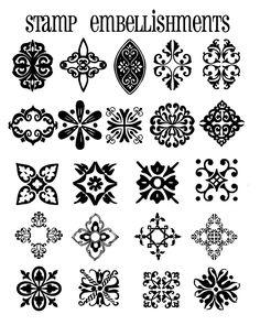Stencil Patterns, Pattern Art, Modern Floral Wallpaper, Mehndi Art Designs, Folk Embroidery, Decorative Borders, Mandala Drawing, Motif Floral, Stencil Painting