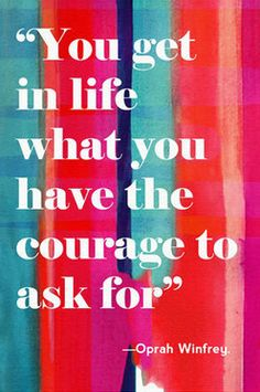 Don't be afraid to ask..