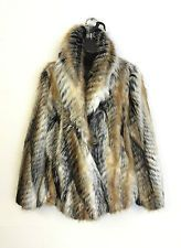 New Ladies Lined Faux Fur Winter Coat Jacket 10 12 14 16 18