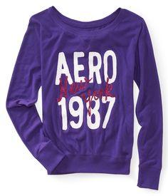 Aero New York 1987 Crew Sweatshirt Tee - Aeropostale