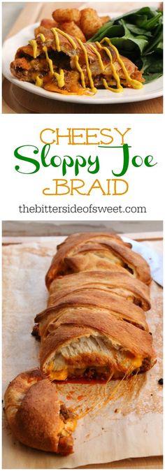 Cheesy Sloppy Joe Braid | The Bitter Side of Sweet