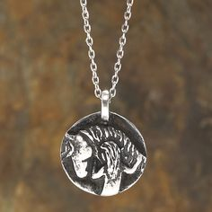 Forever Pewter Necklace with 18 inch Chain - Western Wear, Equestrian Inspired Clothing, Jewelry, Home Décor, Gifts