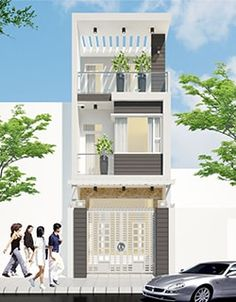 Mong muốn có 1 mẫu thiết kế nhà phố đẹp theo phong cách hiện đại và thông thoáng với ...