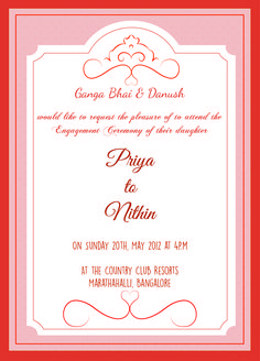 Engagement Ceremony Invitation Card With Wordings Check It Out Marriage
