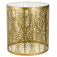 Gold Metal and Glass Side Table on Maisons du Monde. Take your pick from our furniture and accessories and be inspired! Hallway Furniture, Sideboard Furniture, Small Furniture, Dining Room Bench Seating, Living Room Chairs, Living Room Furniture, Metal Design, Sun Lounger Cushions, Decorative Storage Boxes