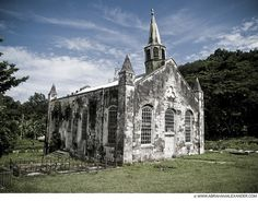 Abandoned Anglican Church, built in 1842    Located in a Valley  Stewart town, Trelawny, Jamaica