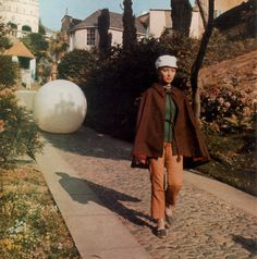 """Patrick McGoohan is, The Prisoner. """"Rover"""" and a resident of The Village. Just one of the areas in Portmeirion History Of Television, Jeremy Brett, Film Studio, Weird Stories, Sci Fi Movies, Classic Tv, Weird Facts, Film Movie, Sherlock Holmes"""
