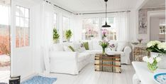 Romantic cottage interior achieved with simple colors and Nordic charm