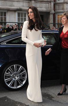 Kate+Middleton+Dresses+Skirts+Evening+Dress+White - Blanc -Branco