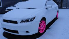 I would do teal Scion tC with Pink Rims :D My Dream Car, Dream Cars, Pink Rims, White Rims, Girly Car, Scion Tc, Car Goals, Cute Cars, Future Car