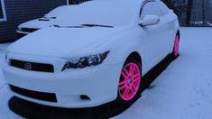 Scion tC with Pink Rims :D