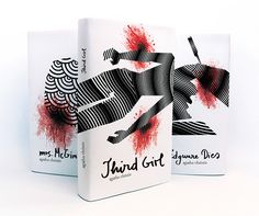 Agatha Christie book cover series by Alma Hodzic, via Behance....kinda violent, but cool design :)