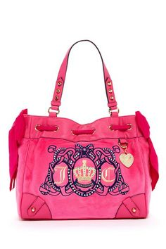Juicy Couture Juicy Crest Velour Daydreamer Satchel by Non Specific on @HauteLook