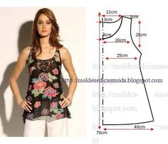 O desenho do molde de blusa floral feminina não tem valor de costura tem que ser acrescentado. Apenas os moldes que são para imprimir têm valor de costura.