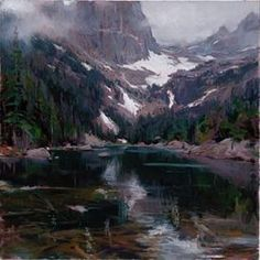 "Daniel F. Gerhartz Limited Edition Iris Graphic: "" Dream Lake """