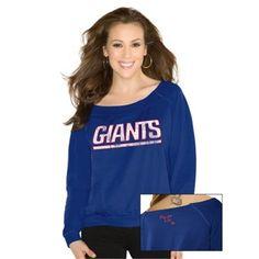 Touch by Alyssa Milano New York Giants Ladies Draft Choice Sweatshirt - Royal Blue