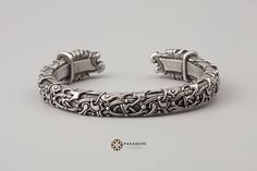 Viking Bracelet Oseberg Style With Odin & Ravens Hugin & Munin Scandinavian Bracelet